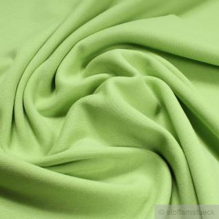 0, 5 Meter Stoff Baumwolle Interlock Jersey hellgrün T-shirt Tricot weich dehnbar