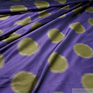 Stoff Trevira® CS Taft lila Kreis überbreit 333 cm breit blickdicht Polyester