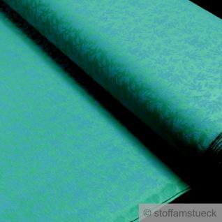 Stoff Baumwolle Elastan Single Jersey angeraut grün Blatt aqua Blätter