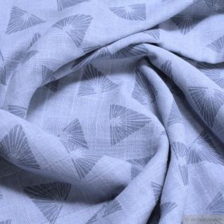Stoff Bio-Baumwolle Musselin pastellblau Dreieck kbA Double Gauze Windeltuch