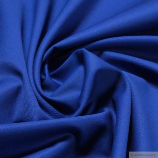 Stoff Baumwolle Feinköper kobaltblau Baumwollstoff Köper blau