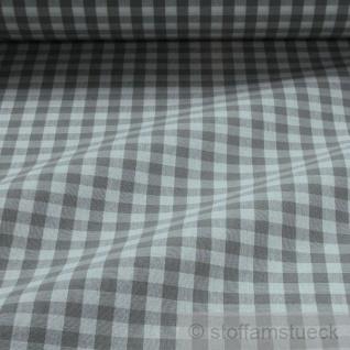 Stoff Baumwolle Bauernkaro grau weiß 1 cm Karo Vichy Karo beidseitig