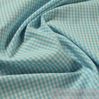 Stoff Baumwolle Vichy Karo türkis weiß 2, 5 mm Swafing Canstein