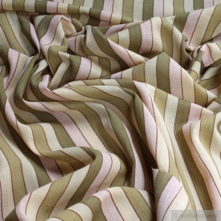 10 Meter Stoff Baumwolle Batist Streifen grün transparent durchscheinend leicht