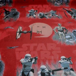 Stoff Kinderstoff Baumwolle rot Star Wars Walt Disney Flieger Chubaka