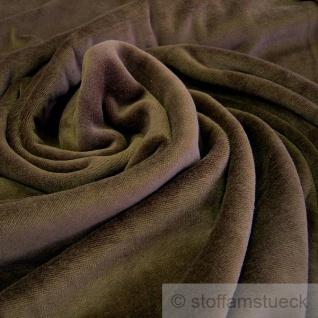 Stoff Baumwolle Polyester Nicki braun Nicky weich