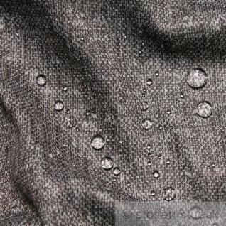 Stoff Polyester braun meliert Regenjacke wasserabweisend weich fallend