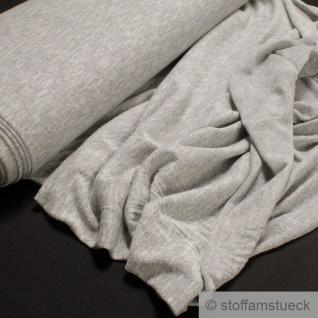 0, 5 Meter Baumwolle Polyester Nylon Lurex Single Jersey hellgrau Glitzer Glitter