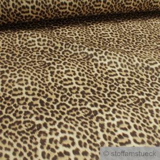 Stoff Polyester Samt Leopard weich anschmiegsam