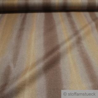 Stoff Wolle Polyamid grau braun streifig angeraut Polsterstoff Vorhang - Vorschau 2