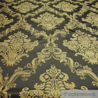 Stoff Polyester Baumwolle Jacquard anthrazit Ornament Polsterstoff