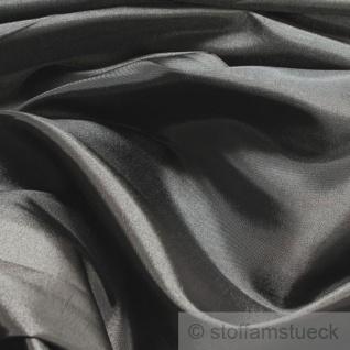 10 Meter Stoff Polyester Kleidertaft grau Taft dezenter Glanz silbrig