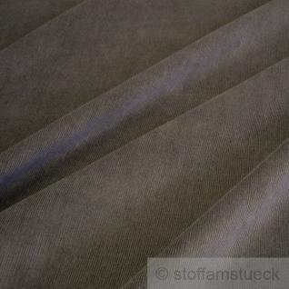 Stoff Baumwolle Cord dunkelbraun Baumwollstoff Babycord Feincord