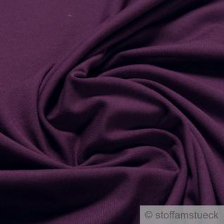 0, 5 Meter Stoff Baumwolle Elastan Single Jersey violett T-Shirt Tricot weich