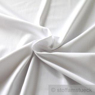 Stoff Baumwolle Elastan Satin weiß Baumwollsatin fest