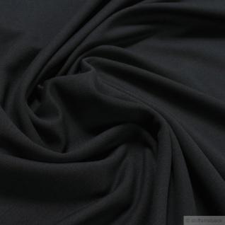 0, 5 Meter Stoff Baumwolle Elastan French Terry schwarz Jersey