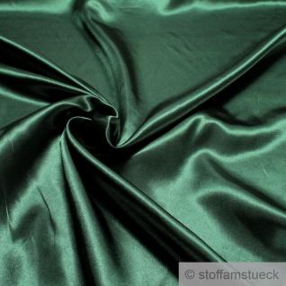 Stoff Polyester Satin dunkelgrün leicht blickdicht glänzend glatt