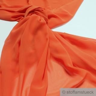 Stoff Polyester Chiffon orange transparent leicht weich fallend
