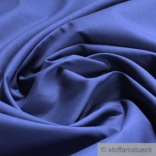 Stoff Baumwolle Popeline jeansblau Baumwollstoff blau