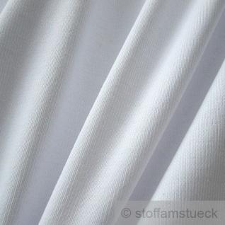 0, 5 Meter Baumwolle Lycra Bündchen weiß kbA GOTS 82 cm breit C.PAULI - Vorschau 2