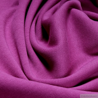 0, 5 Meter Stoff Baumwolle Interlock Jersey fuchsia T-Shirt weich dehnbar pink - Vorschau 2