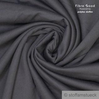 0, 5 Meter Baumwolle Single Jersey dunkelgrau angeraut Sweatshirt weich dehnbar