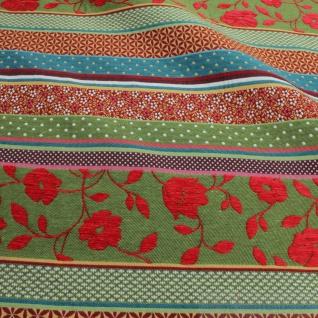 Stoff Baumwolle Jacquard Streifen bunt breit 290 cm breit Punkte Blümchen