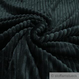 Stoff Polyester Double Minky Fleece dunkelgrün Streifen Soft Fleece Mole Fleece