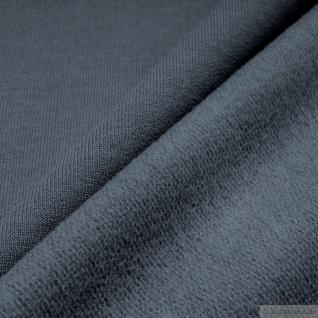 0, 5 Meter Stoff Baumwolle Single Jersey grau angeraut Sweatshirt weich dehnbar - Vorschau 2
