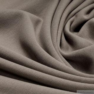 0, 5 Meter Stoff Baumwolle Interlock Jersey cappucino T-Shirt weich dehnbar braun - Vorschau 2
