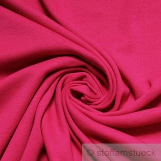 0, 5 Meter Stoff Baumwolle Interlock Jersey pink fuchsia T-Shirt weich dehnbar