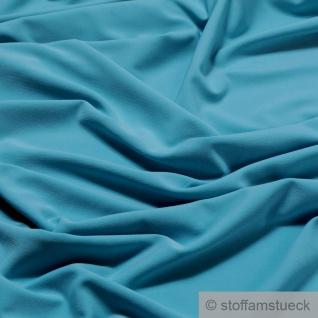 Stoff Polyester Elastan Interlock Jersey aqua leicht bi-elastisch