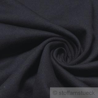 Stoff Baumwolle Single Jersey dunkelblau angeraut Sweatshirt weich dehnbar