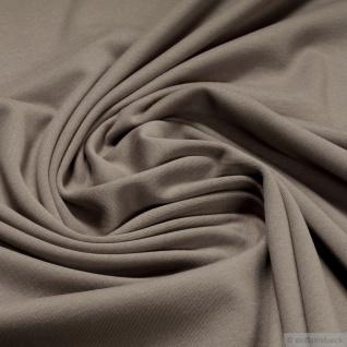 0, 5 Meter Stoff Baumwolle Interlock Jersey cappucino T-Shirt weich dehnbar braun