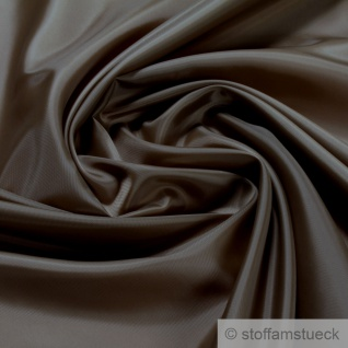 2 Meter Stoff Polyester Futter Taft taupe Futterstoff braun