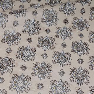 Stoff Baumwolle Acryl Provence sand Ornament wasserabweisend Valdrome Indienne
