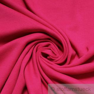 Stoff Baumwolle Interlock Jersey pink fuchsia T-Shirt Tricot weich dehnbar
