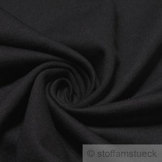 Stoff Baumwolle Single Jersey angeraut schwarz Sweatshirt weich dehnbar