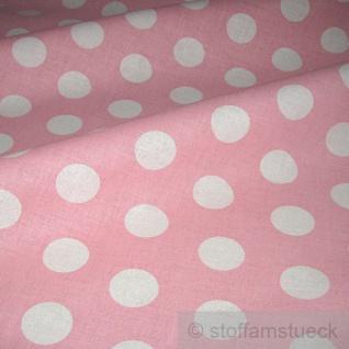 Stoff Baumwolle Punkte groß rosa weiß Tupfen Dots Baumwollstoff - Vorschau 2