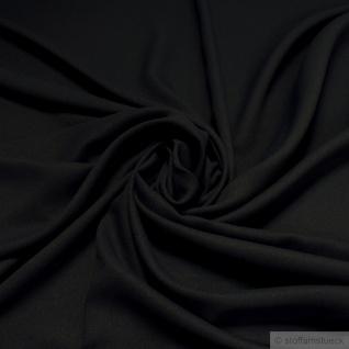 Stoff Polyester Crêpe de Chine schwarz knitterarm