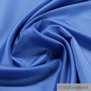 2 Meter Stoff Polyester Futter Taft blau Futterstoff