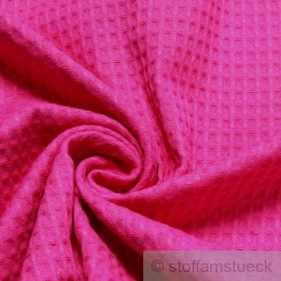Stoff Baumwolle Waffelpiqué fuchsia Waffelpikee Waffelpique Baumwollstoff pink