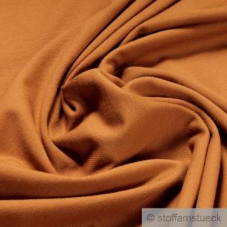 0, 5 Meter Stoff Baumwolle Elastan Single Jersey camel T-Shirt Tricot weich - Vorschau
