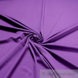 Stoff Baumwolle Interlock Jersey lila T-Shirt Tricot weich dehnbar