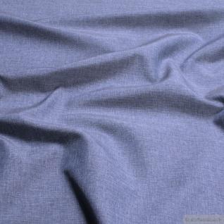 Stoff Polyester Leinwand jeansblau meliert breit Öko-Tex Standard 100 297 cm
