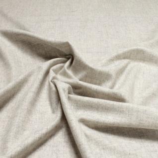 Stoff Wolle Polyester Leinwand hellgrau meliert leicht weich