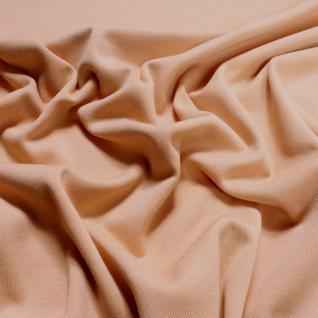 Stoff Baumwolle Interlock Jersey nude T-Shirt Tricot weich dehnbar haut kBA GOTS