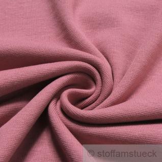 0, 5 Meter Stoff Baumwolle Interlock Jersey pastellrosa rosa T-Shirt weich