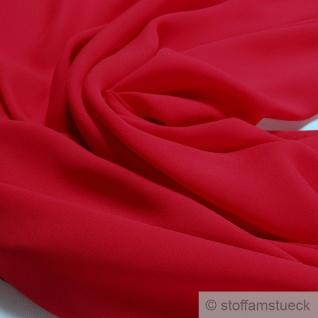 Stoff Polyester Crêpe de Chine leicht rot knitterarm