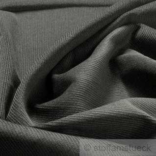 Stoff Baumwolle Cord grau Baumwollstoff Babycord Geincord